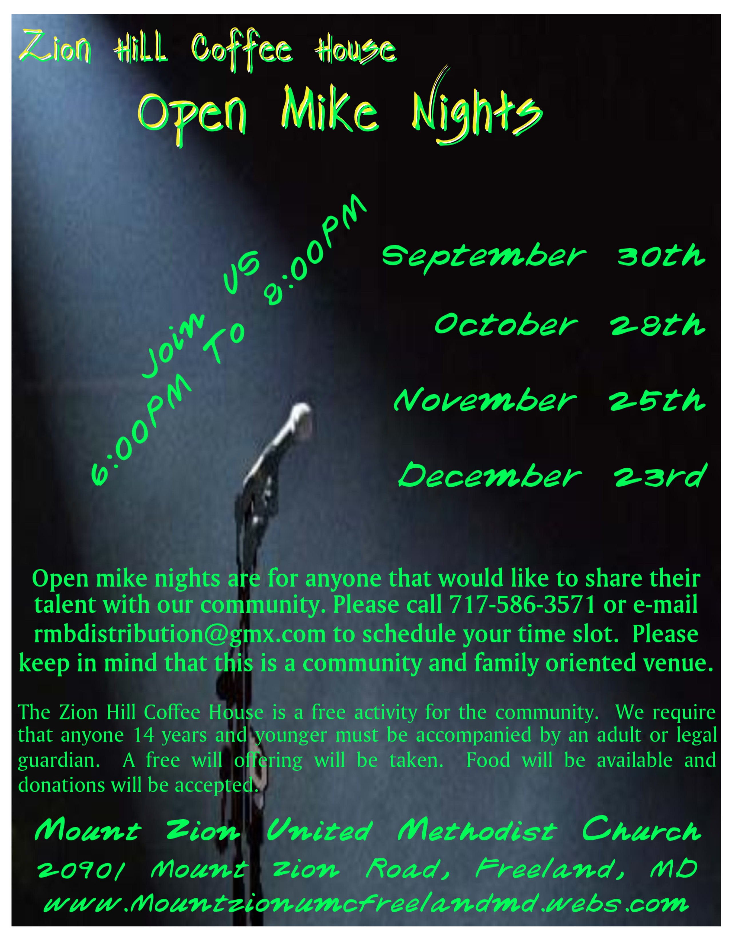 Open Mike Nights