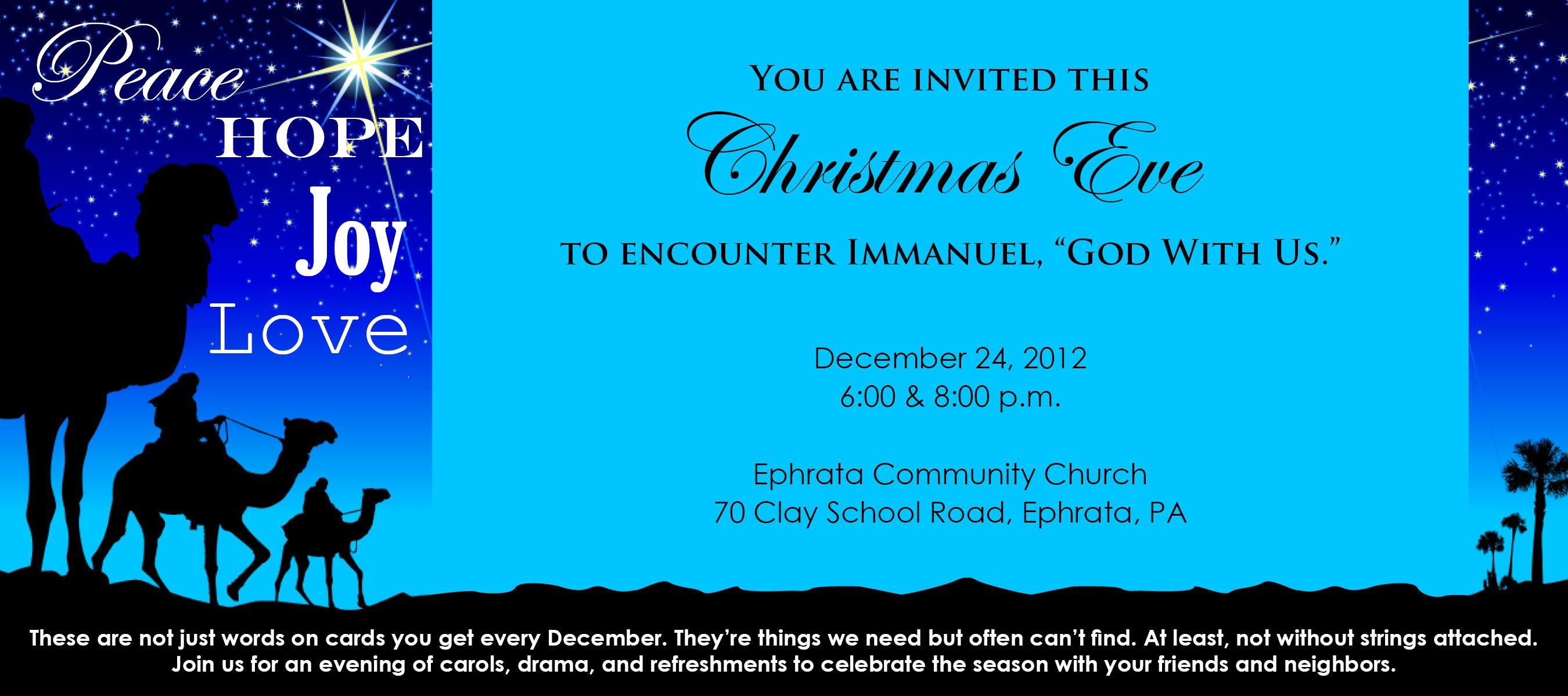 Christmas Eve Invite 2012