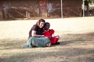 Stacey with Senait, her sponsored child.
