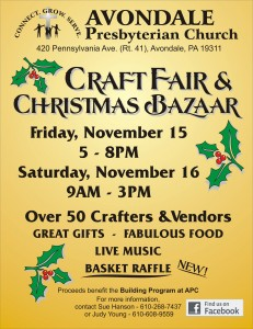 2013 Craft Fair & Christmas Bazaar Flyer