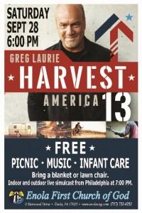 Harvest America Poster - Sept 28 2013
