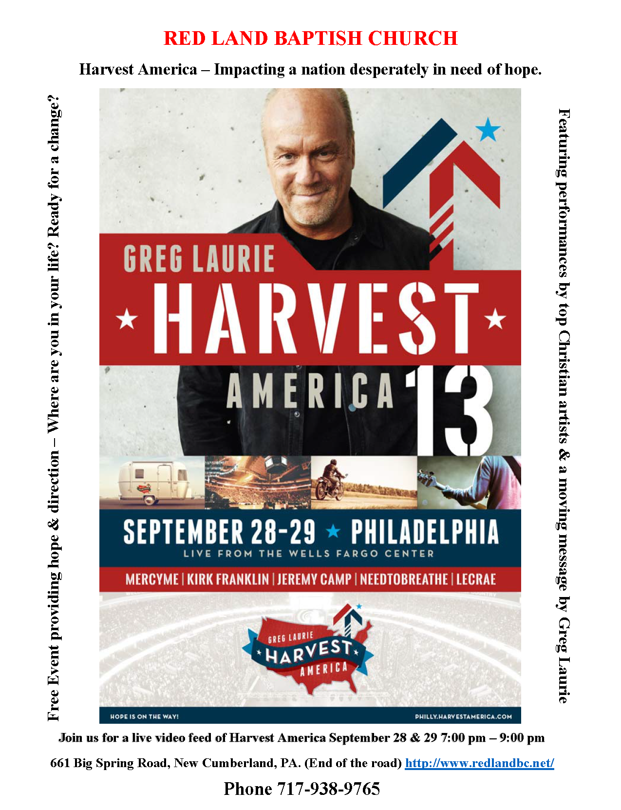Harvest America - RedLand Baptist Church