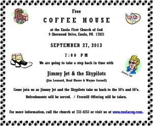 Sept 13 Coffee House