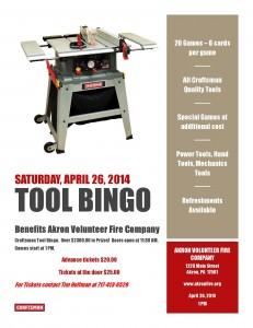 Tool Bingo Flyer