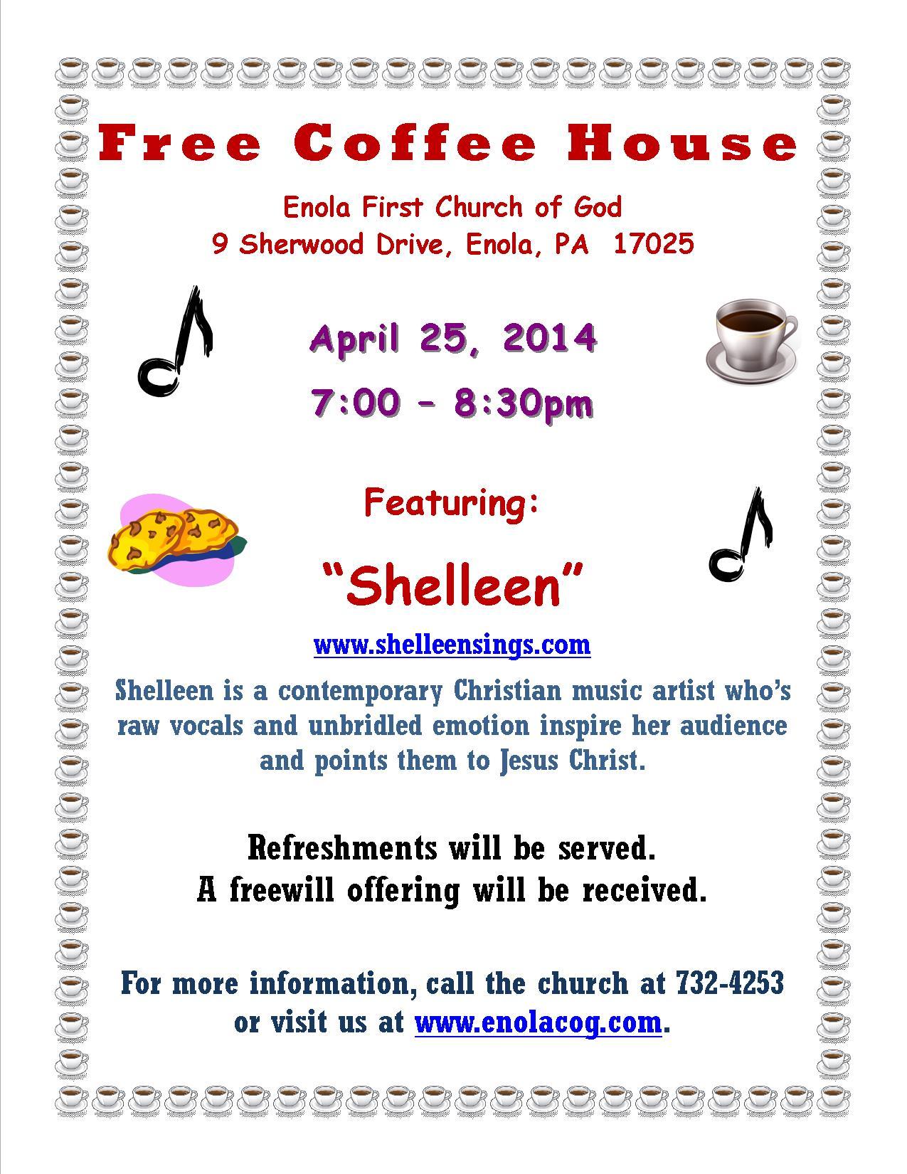 Coffee House Ad - Shelleen