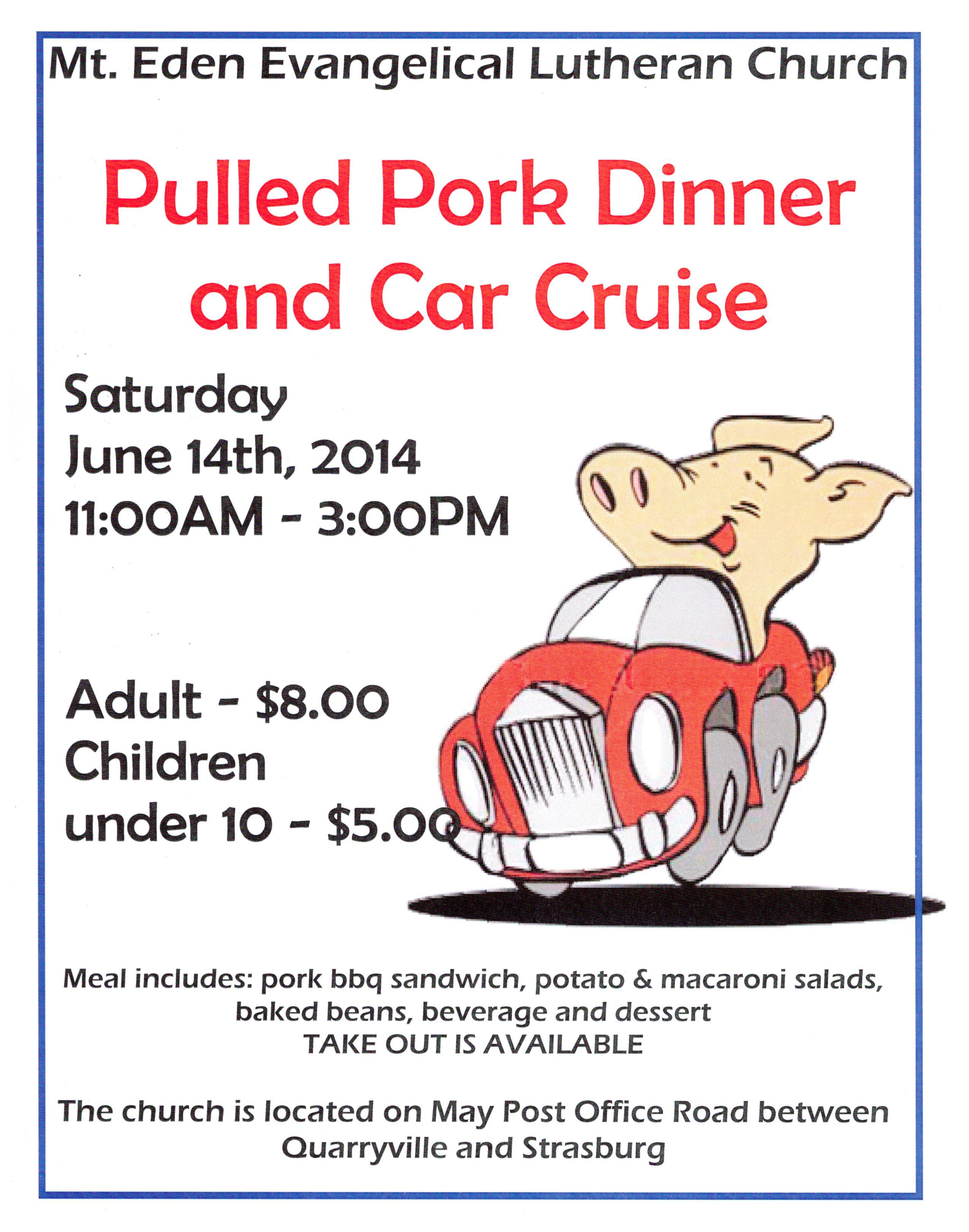 Pork dinner and car cruise 2014 001