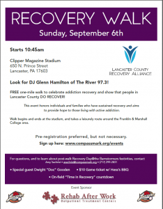 Recovery Walk Flyer