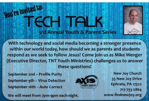 Tech Talk Promo Card