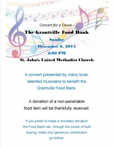 Poster for Food Bank Concert #4 brighter