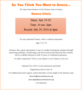 dance clinic flyer