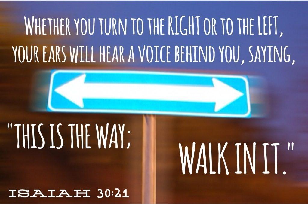 Isaiah 30 21